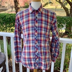 Jared Lang Plaid Roll Sleeve L/S Shirt. Size XL